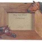 Cadre chevaux bois