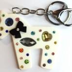 Porte clef blanc