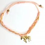 Bracelet saumon cheval doré