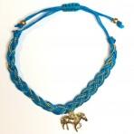 Bracelet turquoise cheval doré