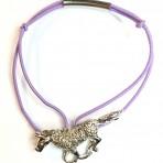 Bracelet cheval violet